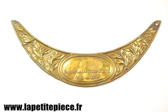 Plaque de casque SOLDAT DE LA GRANDE GUERRE 1914 1918