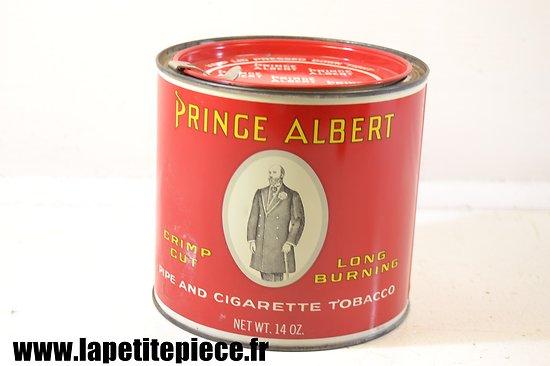 Boite de tabac américaine Deuxième Guerre Mondiale. Prince Albert 14 Oz