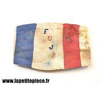 Brassard résistance FUJP Forces Unies de la Jeunesse Patriotique - WW2