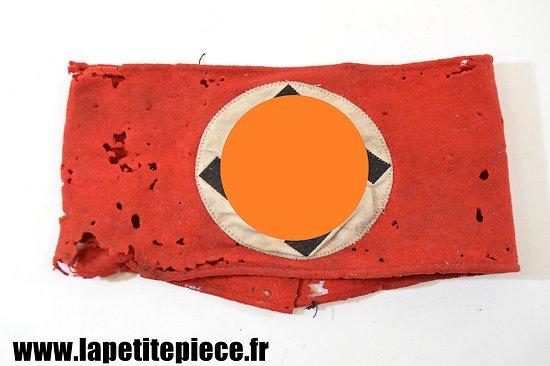 Brassard NSDAP précoce, laine rouge.