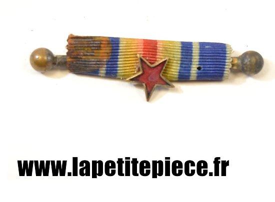 Barrette de rappel médaille des bléssés France Première Guerre Mondiale