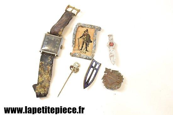 Lot Allemand WW2 - insignes de journée, broche d'organisation, prix de tir
