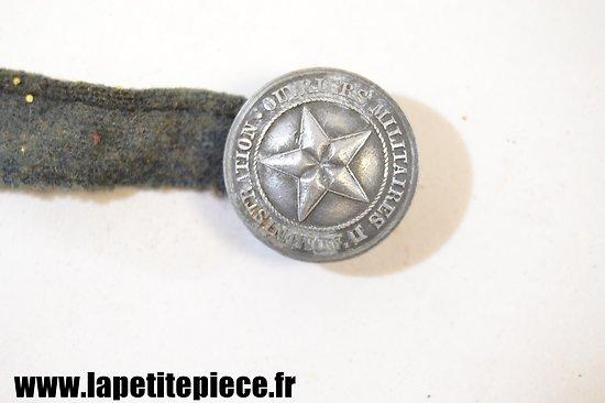 Bouton Ouvrier Militaire d'Administration (COA) Première Guerre Mondiale