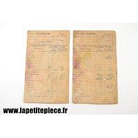 Deux cartes de rationnement 1943