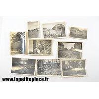 Photos de bombardements, Pont de Vesle (Reims) 1944