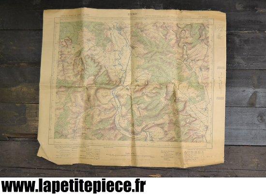 Carte géographique secteur STENAY modèle 1922 - 1935 Armée Française