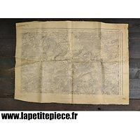 Carte géographique secteur VERDUN modèle 1899 - 1930 Armée Française