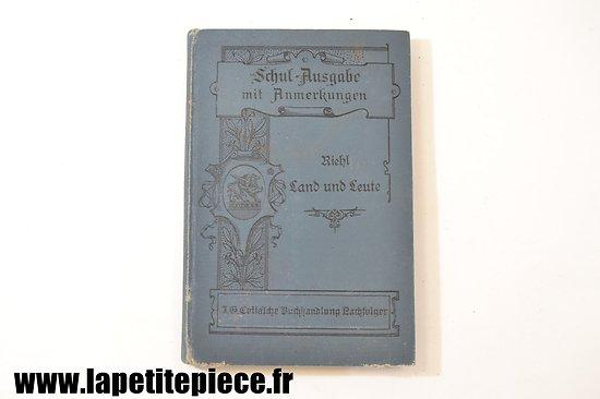 Livre civil Allemand 1902 - Riehl Land und Leute
