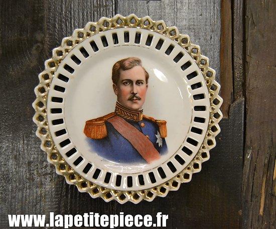 Assiette décorative Albert 1er, Roi des Belges - Première Guerre Mondiale