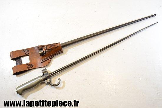 Baionnette Française modèle 1886 soie courte, poignée Maillechort