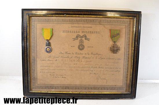 Diplome avec médailles 231e Régiment d'Infanterie - Gribenski Jacob