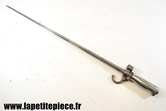 Baionnette Française modèle 1886 soie longue, poignée Maillechort