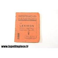Livret traducteur Gesprachshandbuch 1940