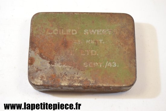 Boite de ration Anglaise 1943 - Boiled Sweet