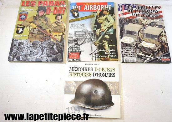 Lot livres - 101st Airborne, les véhicules US ARMY, Mémoires d'objets, les paras du D-Day