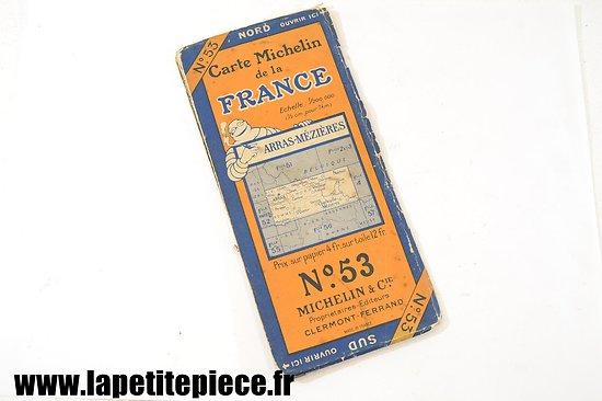 Carte Michelin 1927 - secteur ARRAS - MEZIERES