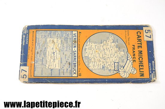 Carte Michelin 1929 - secteur VERDUN - SARREBRUCK