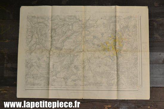 Carte militaire mai 1940 secteur Montdidier (Somme / France)