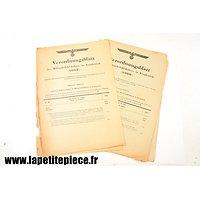Feuillets du journal officiel des lois, Allemand WW2