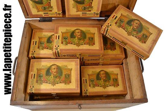 Repro boite de cigares Allemands Première Guerre Mondiale. Guillaume II