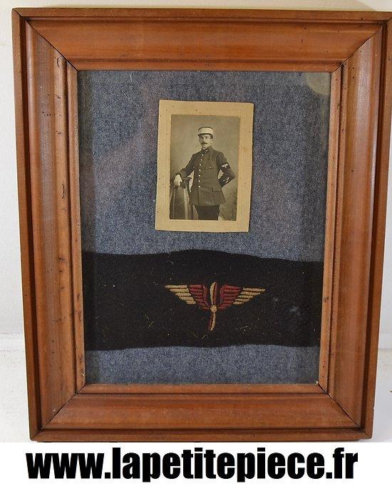Photo aviateur Français sous verre. Première Guerre Mondiale.
