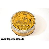 Boite de graisse à chaussures P. PAULIN