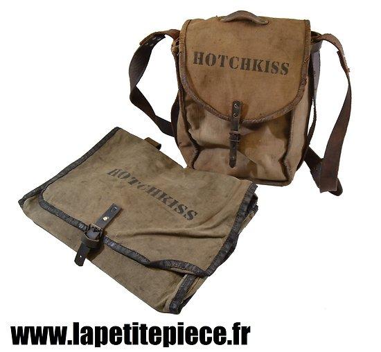 Musette accessoires Hotchkiss et musette à chiffons. Première Guerre Mondiale