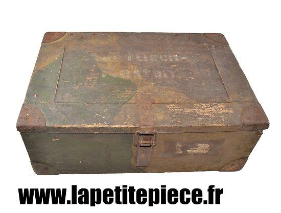 Caisse Allemande 1935 camouflée - 2 douilles s. 10 cm K.18