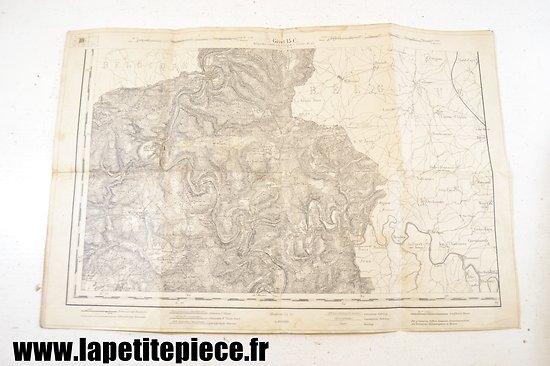 Carte Allemande WW2 - secteur Ardennes - Givet