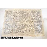 Carte Allemande WW2 - secteur Nivelles (Belgique)