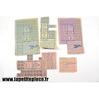 Lot tickets de rationnement - occupation Allemande WW2