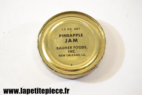 Boite de ration US WW2 - Blackberry Jam - Baumer Foods inc. New Orleans