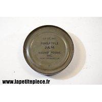 Boite de ration US WW2 - Pineapple Jam - Baumer Foods inc. New Orleans