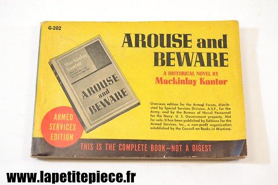 Livre édité par l'Armée Américaine 1936 - Arouse and Beware (Mackinlay Kantor)