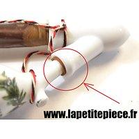 Joint / manchon de cuir pour pipe de réserviste Allemande Première Guerre Mondiale