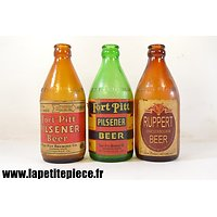 Lot trois bouteilles de bières américaines Deuxième Guerre Mondiale