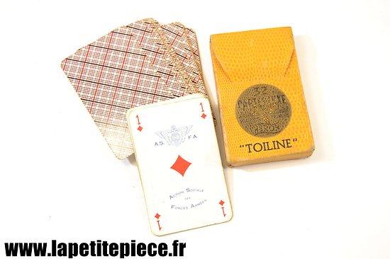 Jeu de cartes Héron Toiline - Action Sociale des Forces Armées (années 1950).