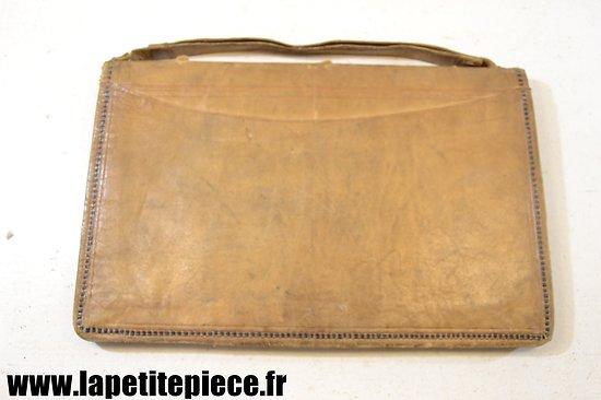 Pochette porte documents en cuir - début 20e Siècle