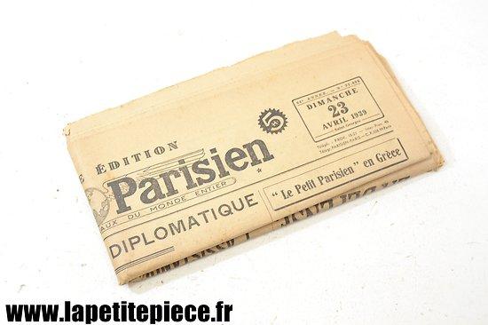 Journal 23 avril 1939 - Le Petit Parisien