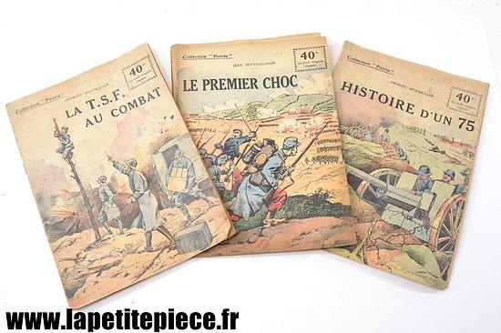 """Livrets de poche 1919 - TSF, canon de 75 et combats """"Collection Patrie"""""""
