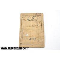 Livret militaire 5e Régiment du Génie (Sapeur télégraphiste) classe 1902