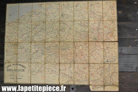Carte vélocipédique de la Belgique - Alfred Castaigne 1898