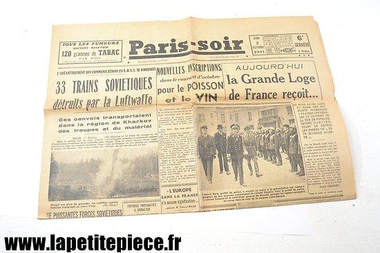 Journal 2 octobre 1941 - Paris-soir
