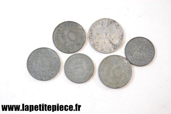 Lot monnaies Allemandes Deuxième Guerre Mondiale