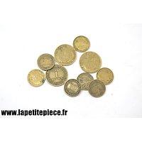 Lot de monnaies Françaises époques Deuxième Guerre Mondiale