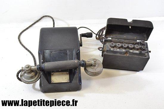 Téléphone de campagne Allemand 1941 - Heliowatt Feldfernsprecher