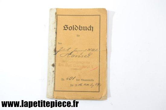 Soldbuch 9e Régiment de Grenadiers (Prussien), 2 Ersat Bat.