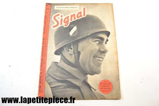 Signal numéro 5 Fr. - 1941 (magazine de propagande) Max Schmeling