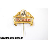 "Badge de réserviste différé 1 J. - Hindenburg en médaillon - Reservistenabzeichen "" Zurückgestellt """