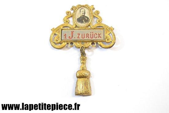 "Badge de réserviste différé 1 J. Wilhelm II - Reservistenabzeichen "" Zurückgestellt """